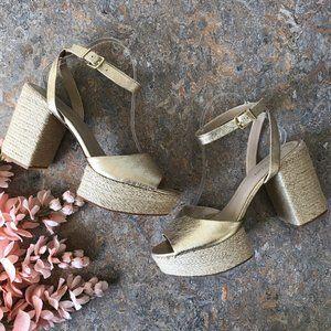 Kenneth Cole Phoenix Platform Espadrilles Sandals